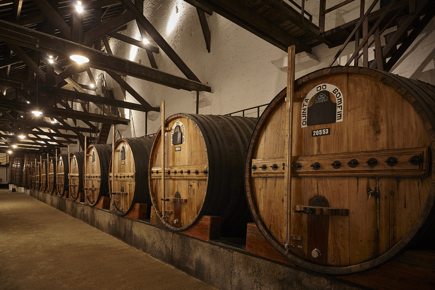 The original oak tuns in the old lodge