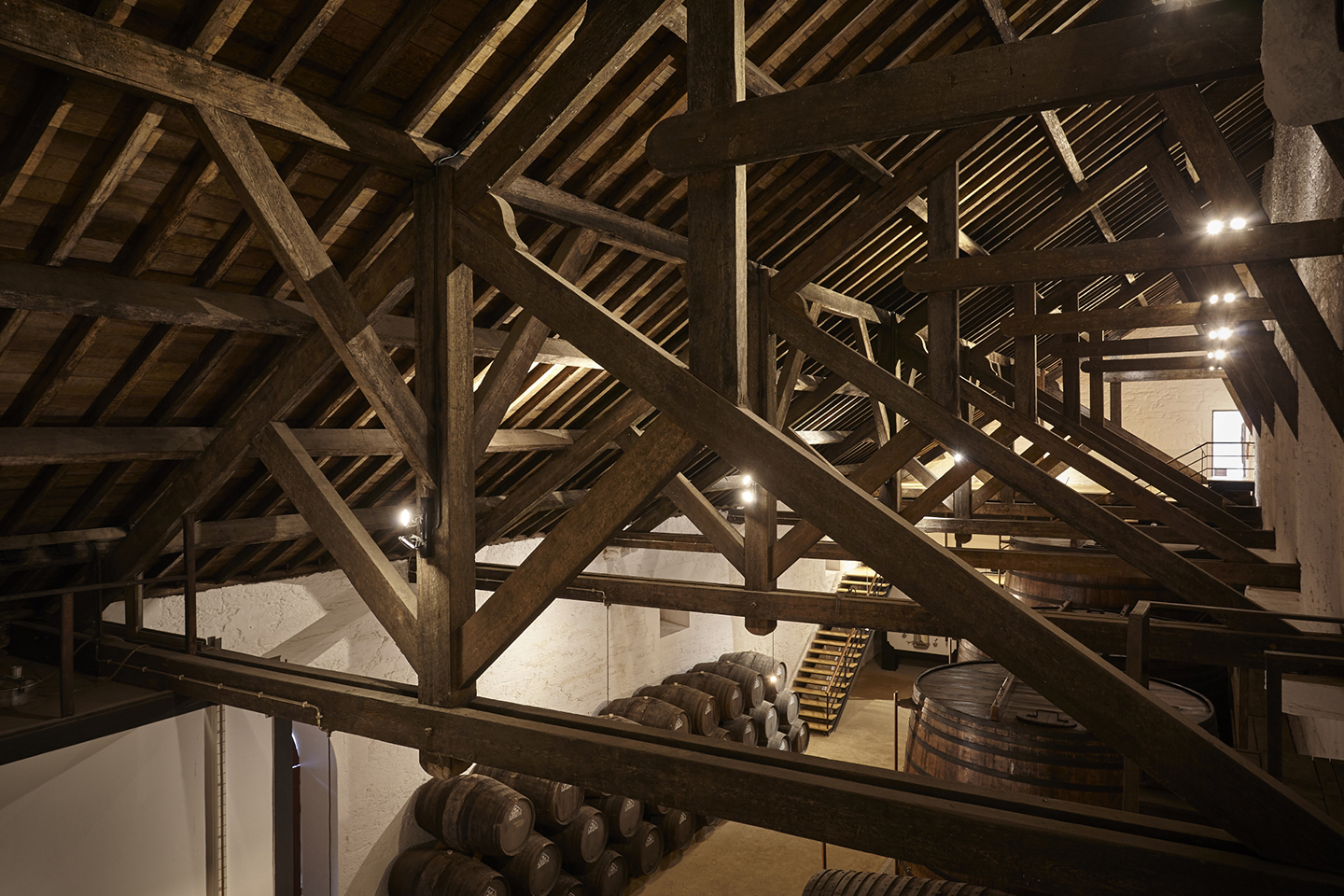 The ingenious system of beams and rafters which support the massive roof