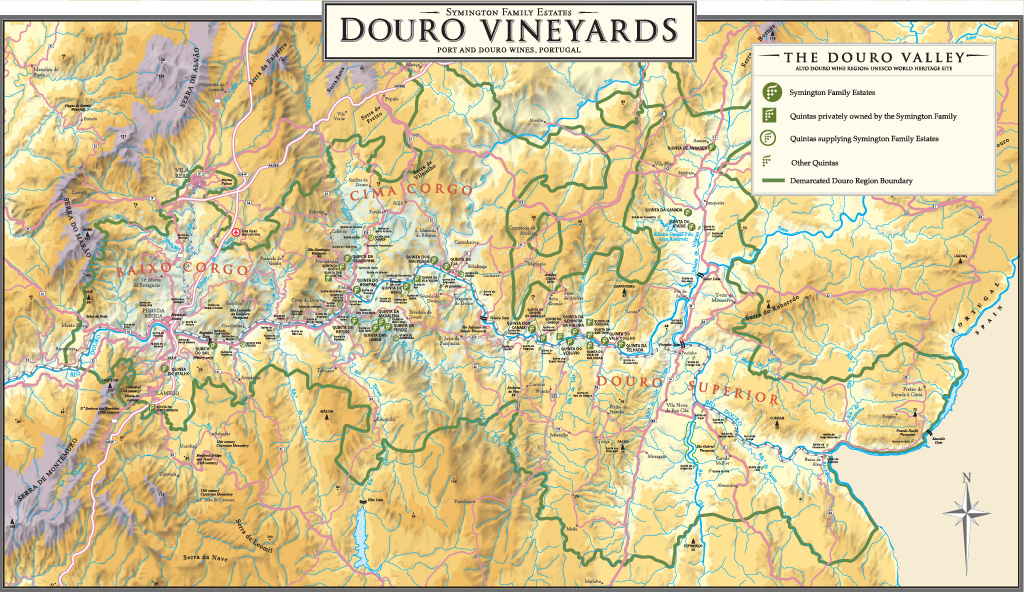 DOURO VALLEY VINEYARDS MAP